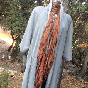 Vintage BOHO Silk Noongcool Over Coat Unique L XL